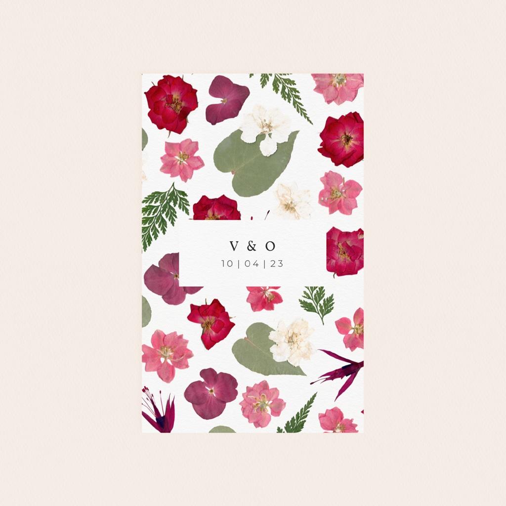 Etiquette bouteille mariage Romance Florale, Vin ou Eau, 8 x 13 cm pas cher