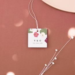 Etiquettes cadeaux mariage Romance Florale, 4,5 x 4,5 cm