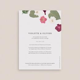 Faire-part de mariage Romance Florale, 12 x 16,7 cm pas cher