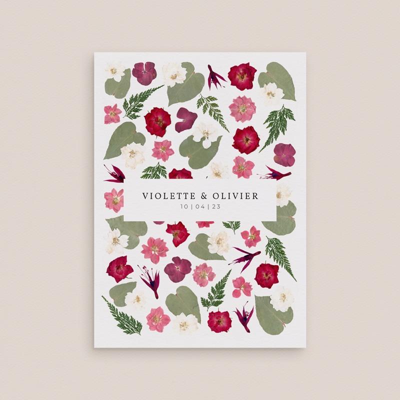 Faire-part de mariage Romance Florale, 12 x 16,7 cm gratuit