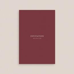 Carte d'invitation mariage Romance Florale, réception