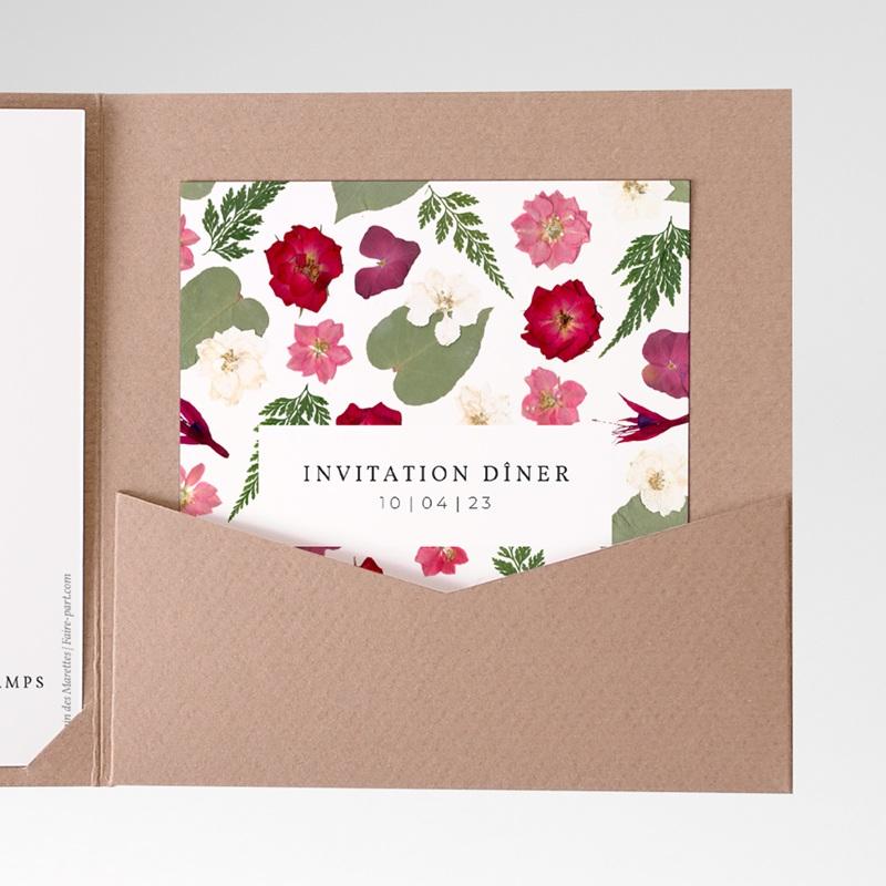 Faire-part de mariage Romance Florale, Pocket
