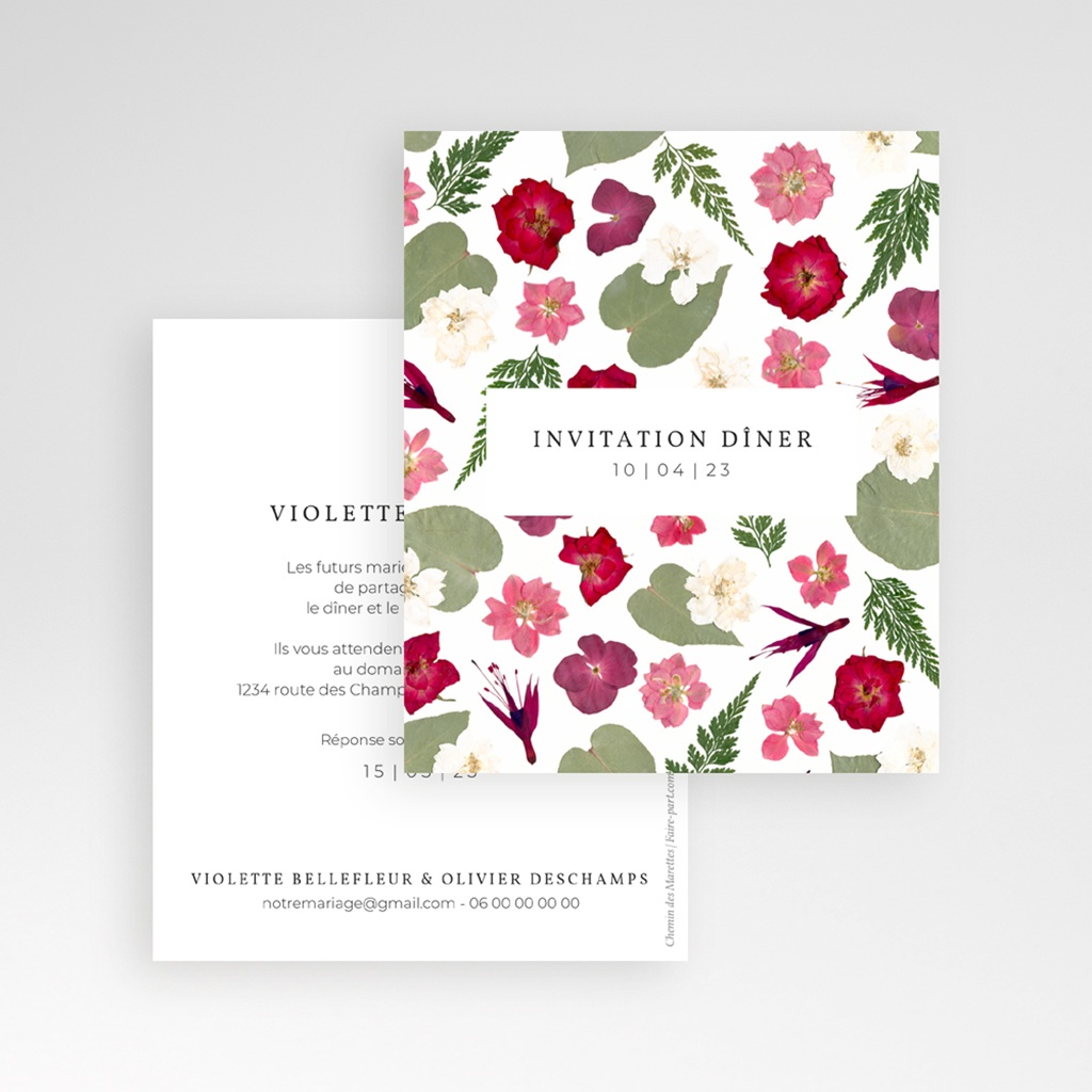 Faire-part de mariage Romance Florale, Pocket gratuit