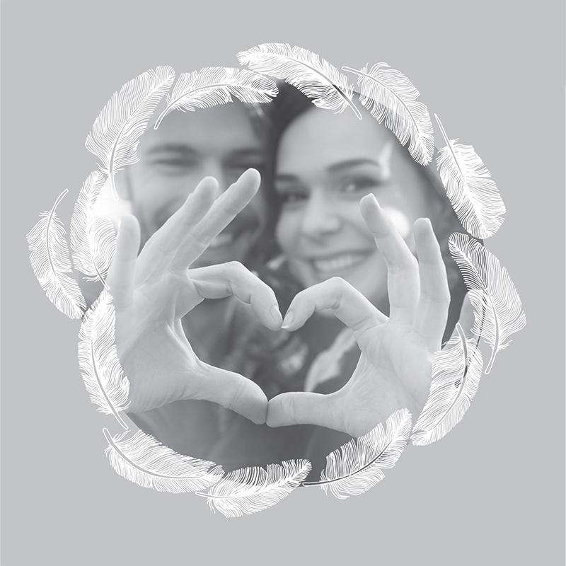 Faire-part de mariage Plume gratuit