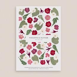 Livret de messe mariage Romance Florale, couverture, 15 x 22 cm pas cher