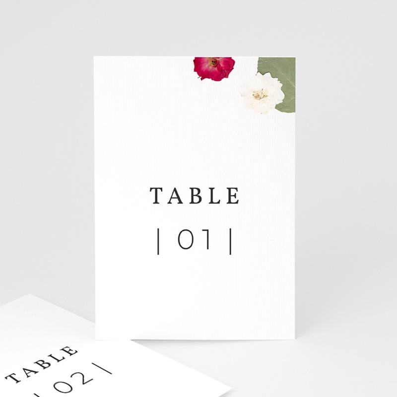 Marque table mariage Romance Florale, Lot de 3