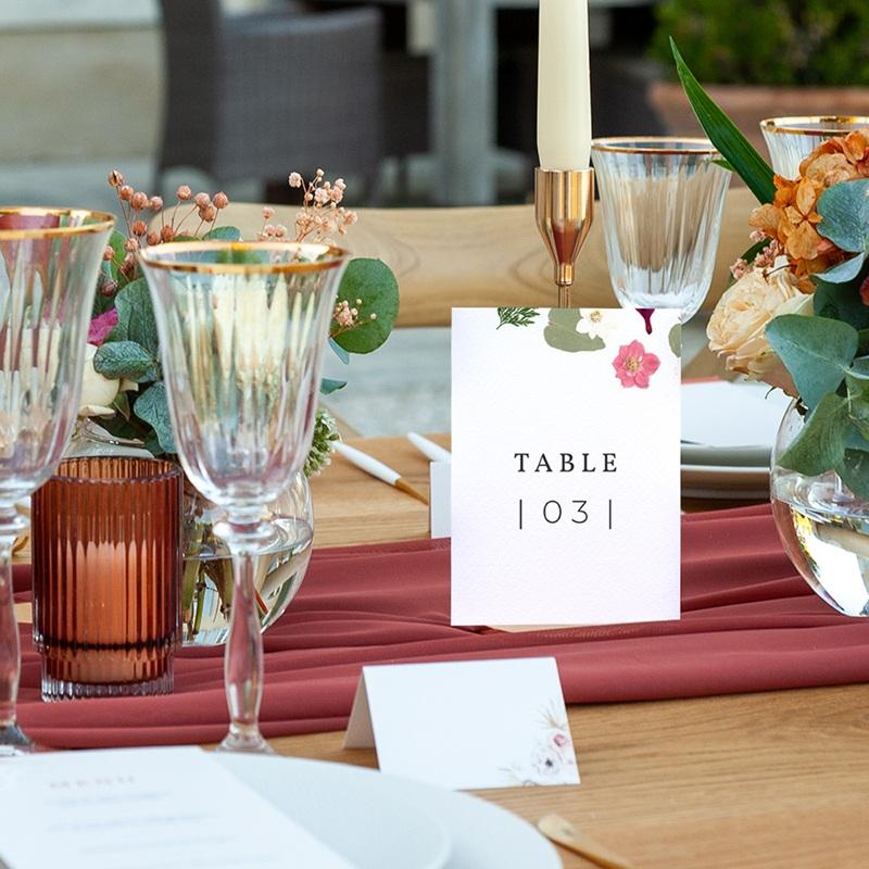 Marque table mariage Romance Florale, Lot de 3 pas cher