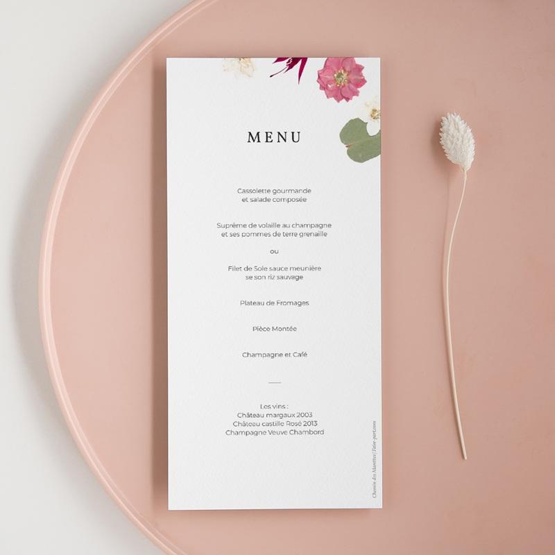 Menu mariage Romance Florale, Repas