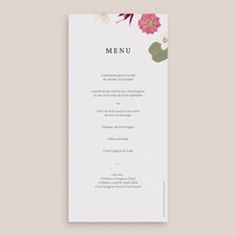Menu mariage Romance Florale, Repas gratuit