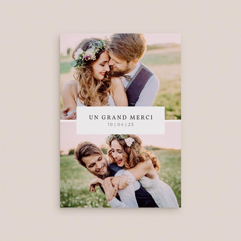 Carte de remerciement mariage Romance Florale, 2 volets, 10,5 x 15 cm gratuit