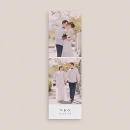 Carte de remerciement mariage Romance Florale, 2 en 1 gratuit