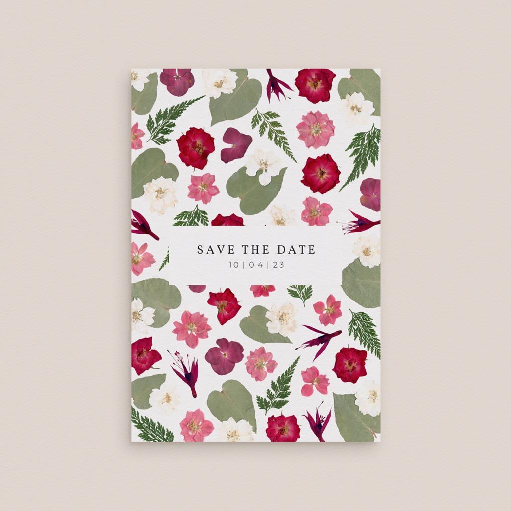Save-the-date mariage Romance Florale, Jour J à réserver