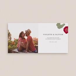 Save-the-date mariage Romance Florale, 2 volets 9,5 x 9,5 cm pas cher