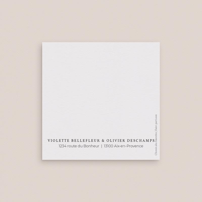 Save-the-date mariage Romance Florale, 2 volets 9,5 x 9,5 cm gratuit