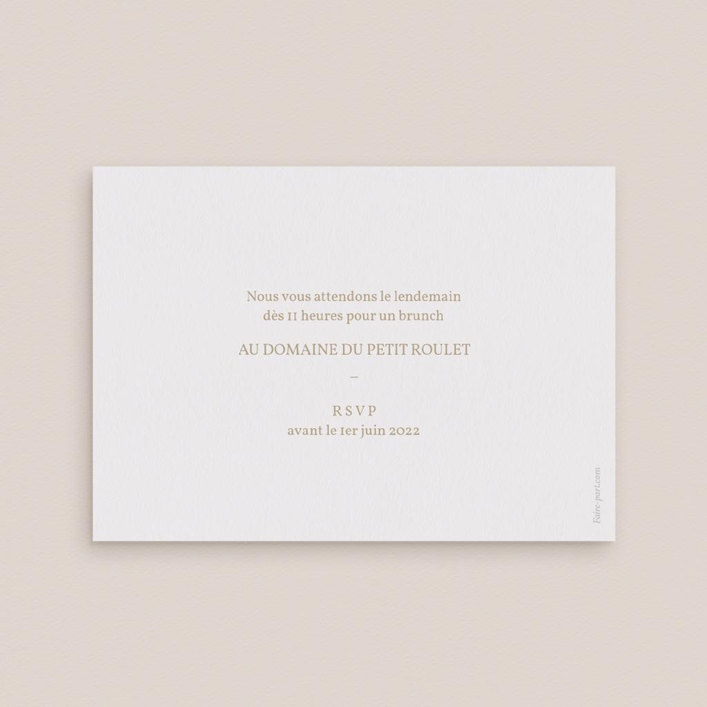 Carte invitation Brunch Brin romantique, Beige doré, Brunch pas cher