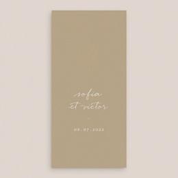 Menu mariage Brin romantique, Beige doré, 10 x 21 cm gratuit