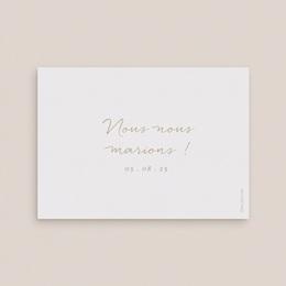 Save-the-date mariage Brin romantique, Beige doré, D-Day pas cher