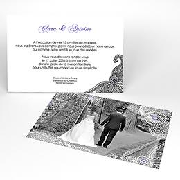 Carte anniversaire de mariage Flora améthyste