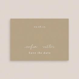 Save-the-date mariage Brin romantique, Beige doré, D-Day gratuit