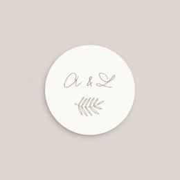 Etiquette enveloppes mariage Diadème Doré, 4,5 cm pas cher