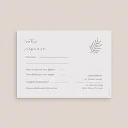 Carton réponse mariage Diadème Doré, Rsvp, 14 x 10 cm pas cher