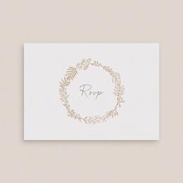 Carton réponse mariage Diadème Doré, Rsvp, 14 x 10 cm gratuit