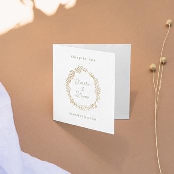 Change the date mariage Diadème Doré, photo, New date