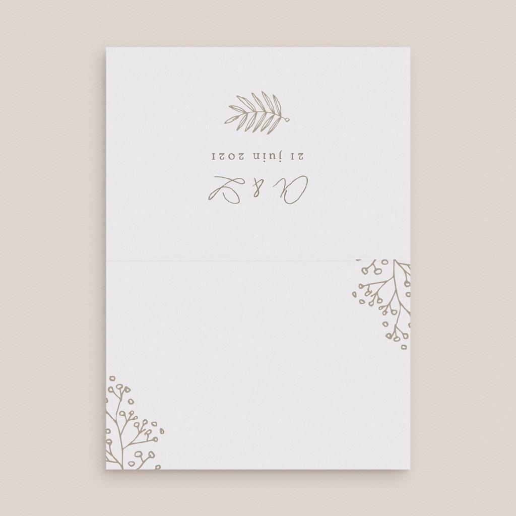 Marque-place mariage Diadème Doré, Invité, 7,5 x 5,2 cm pas cher