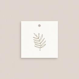 Etiquettes cadeaux mariage Diadème Doré, 4,5 x 4,5 cm gratuit