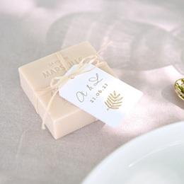 Etiquettes cadeaux mariage Diadème Doré, 6 x 4 cm