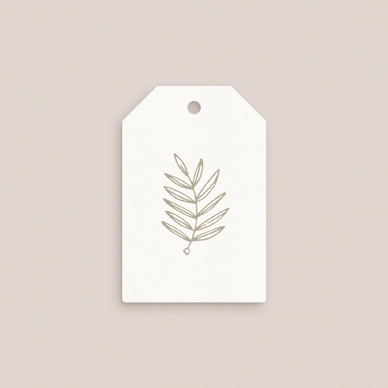 Etiquettes cadeaux mariage Diadème Doré, 6 x 4 cm pas cher