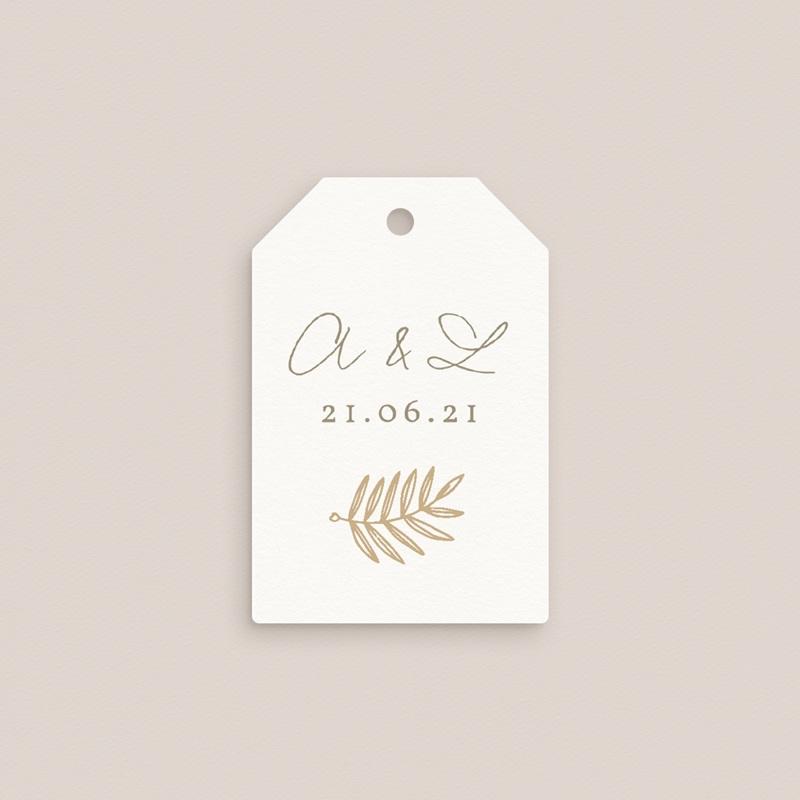 Etiquettes cadeaux mariage Diadème Doré, 6 x 4 cm gratuit