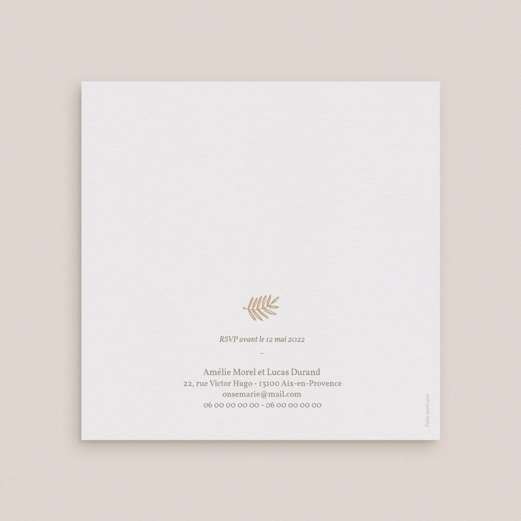 Faire-part de mariage Diadème Doré, 14 x 14 cm gratuit