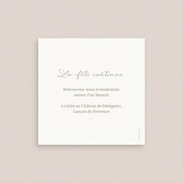 Carte invitation Brunch Diadème Doré, Brunch 10 x 10 pas cher