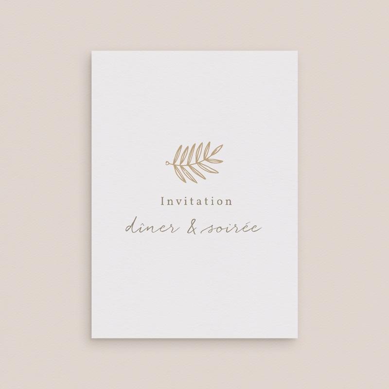 Carte d'invitation mariage Diadème Doré, invitation 10 x 14 cm gratuit