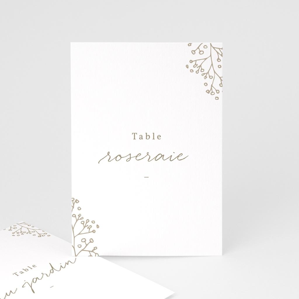 Marque table mariage Diadème Doré, lot de 3 repères