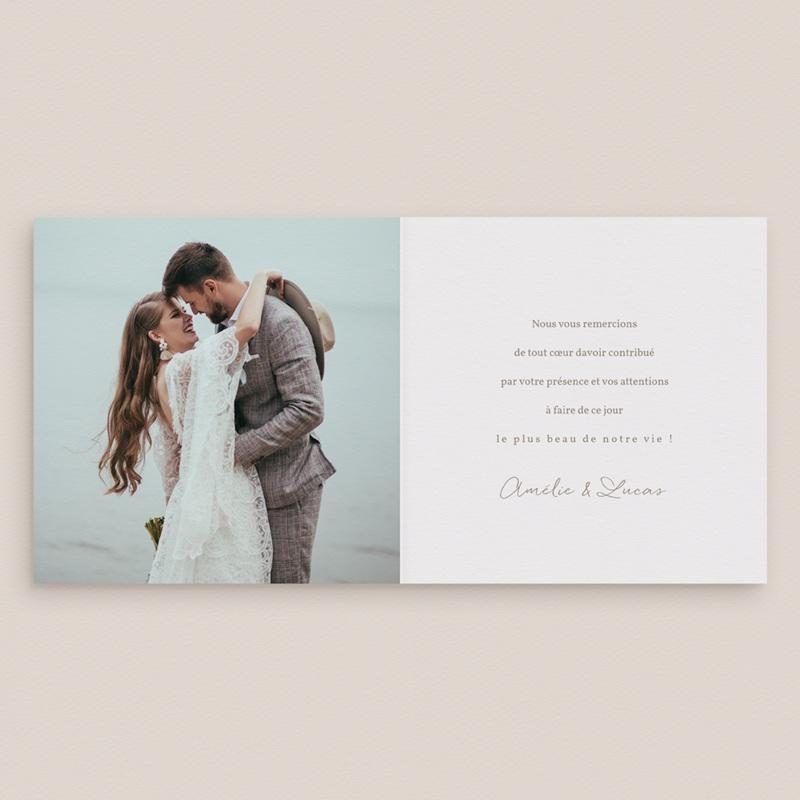 Carte de remerciement mariage Diadème Doré, 14 x 14 cm pas cher