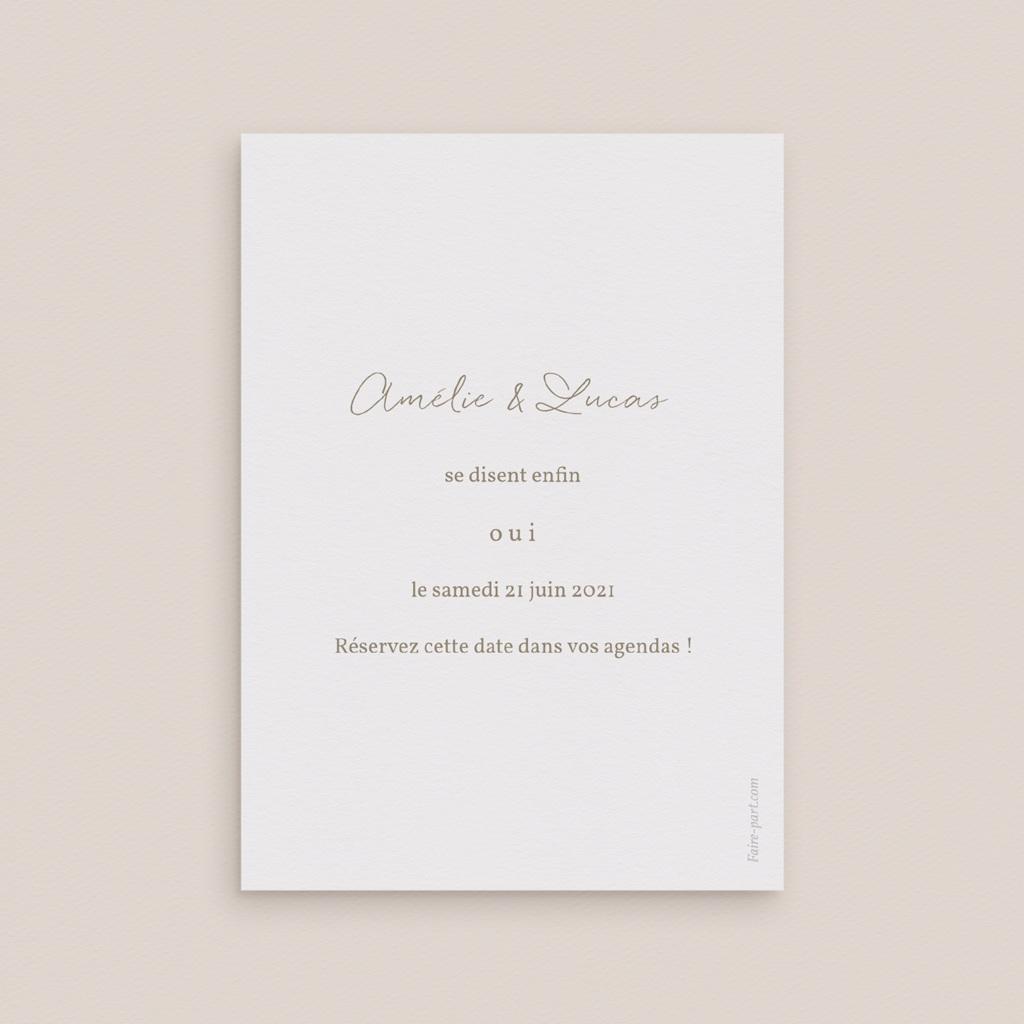 Save-the-date mariage Diadème doré, Jour J pas cher