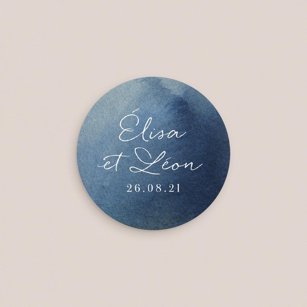 Etiquette enveloppes mariage Sous la voûte étoilée, Sticker 4,5 cm pas cher