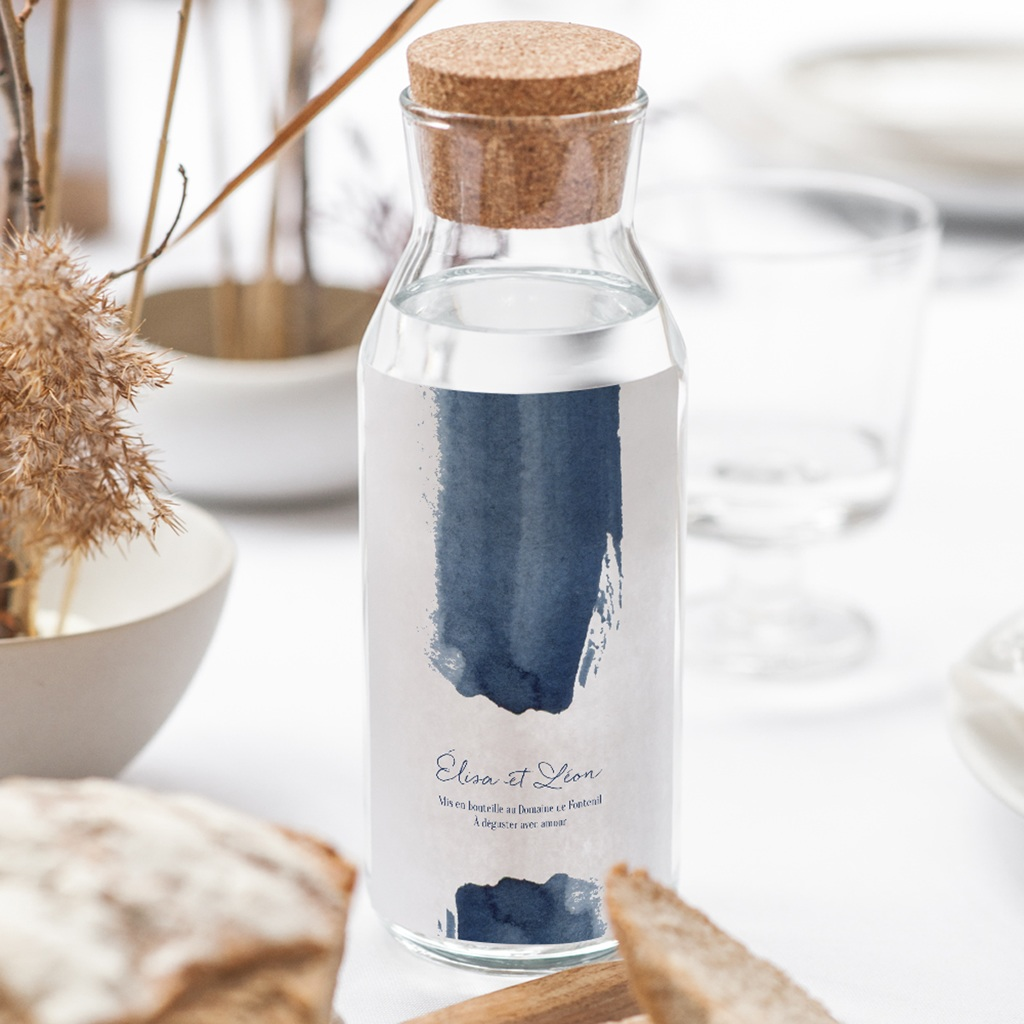 Etiquette bouteille mariage Sous la voûte étoilée, 8 x 13 cm gratuit