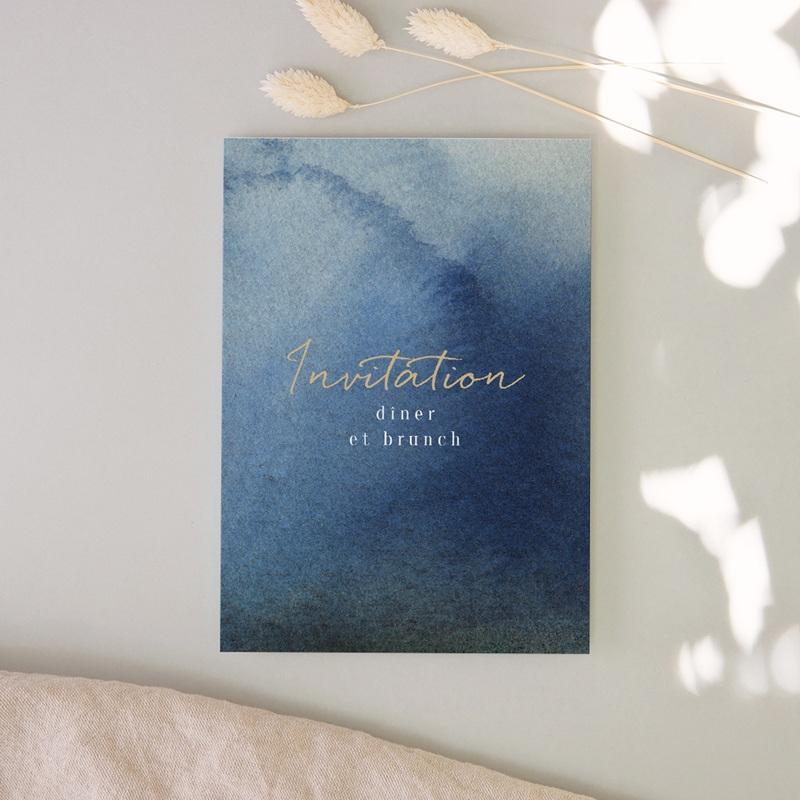 Carte invitation Brunch Sous la voûte étoilée