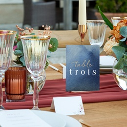 Marque table mariage Sous la voûte étoilée, 3 repères pas cher