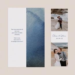 Carte de remerciement mariage Sous la voûte étoilée, 2 en 1 pas cher