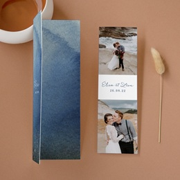 Carte de remerciement mariage Sous la voûte étoilée, 2 en 1