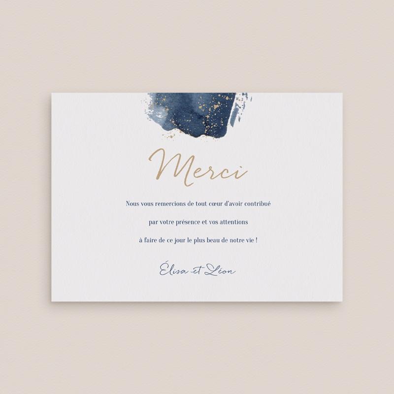 Carte de remerciement mariage Sous la voûte étoilée 14 cm x 10 cm gratuit