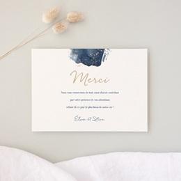 Carte de remerciement mariage Sous la voûte étoilée 14 cm x 10 cm