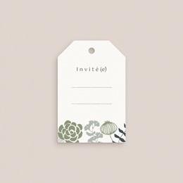 Marque-place mariage Matcha, invité gratuit