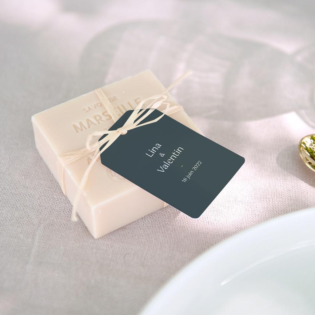 Etiquettes cadeaux mariage Matcha