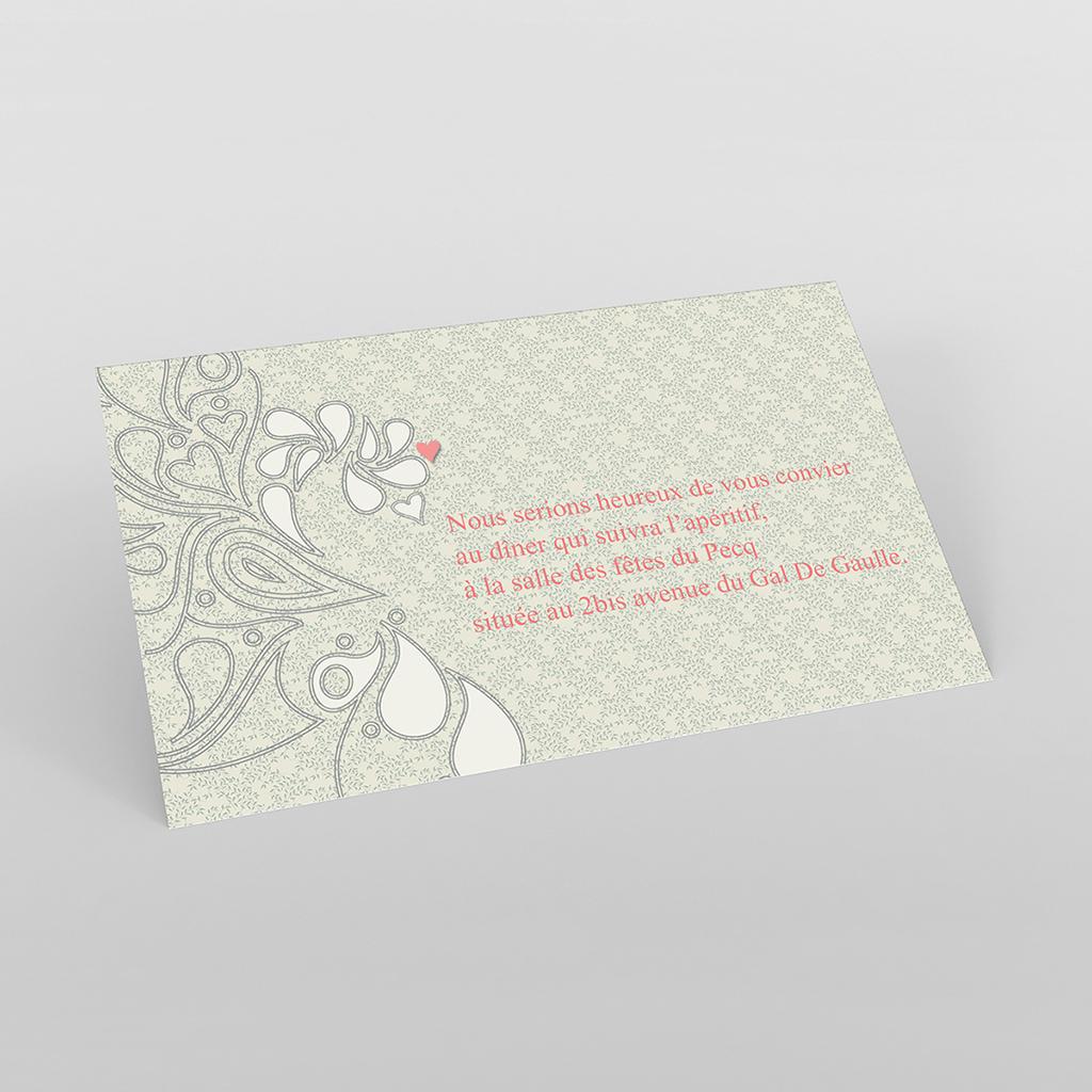 Carte d'invitation mariage Arabesque
