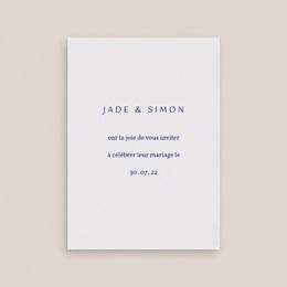 Save-the-date mariage Rhapsody, fleurs Bleues pas cher